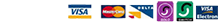 Paypal and credit debit card logos