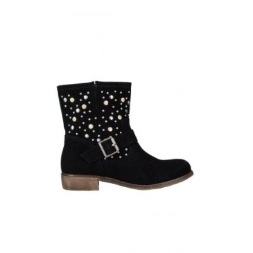 Product image of Faux Suede Studded Ankle Boot