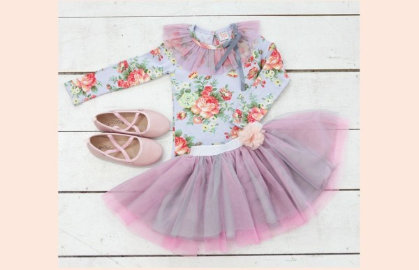 Product image of Floral TuTu Set Purple