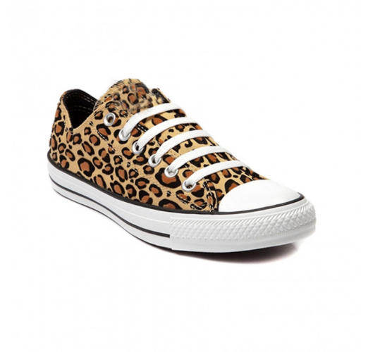 Product image of Leopard converse style trainers