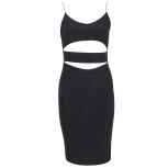 Cut Out Bodycon dress Black