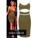 Product image of CUT OUT BODYCON DRESS BLACK Khaki