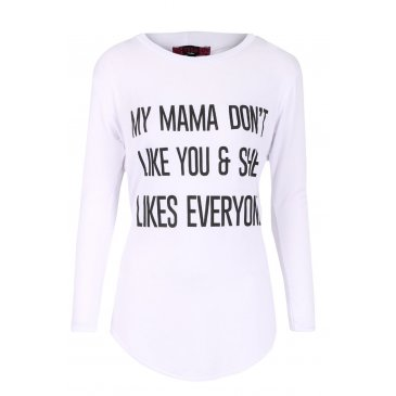 Product image of Mama Don't Like You Top White