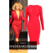 Product image of Khloe K Red plunge Dress