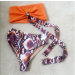 Product image of Marbella snake bikini orange