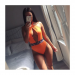 Product image of Marbella Snake Orange Swimsuit