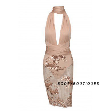 Product image of Nori Gold Floral Glitter Dress