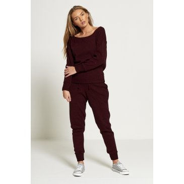 Product image of JADA BURGUNDY LOOSE TRACKSUIT