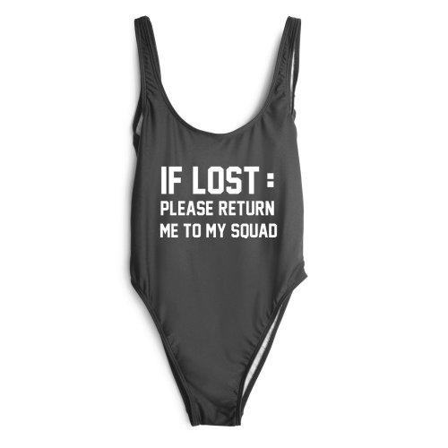 "Product image of ""if lost please return to my squad"" slogan squad"
