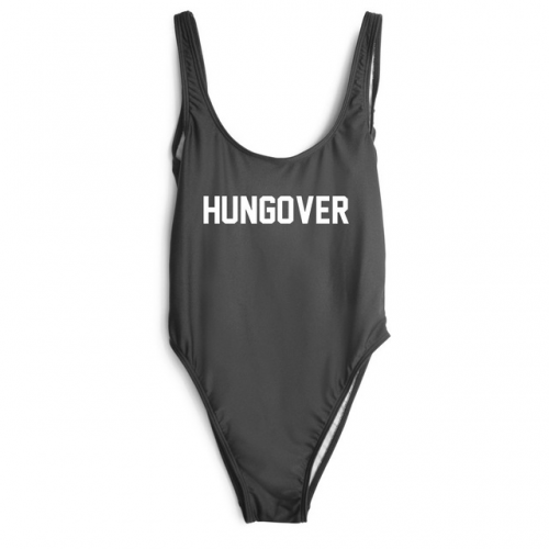 "Product image of ""Hungover"" Slogan swimsuit"