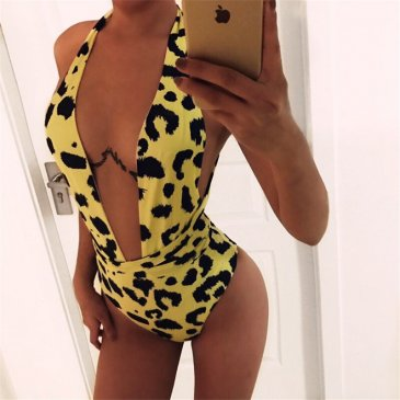 Product image of BILLIE SNAKE yellow SWIMSUIT