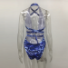 Product image of BILLIE SNAKE blue SWIMSUIT