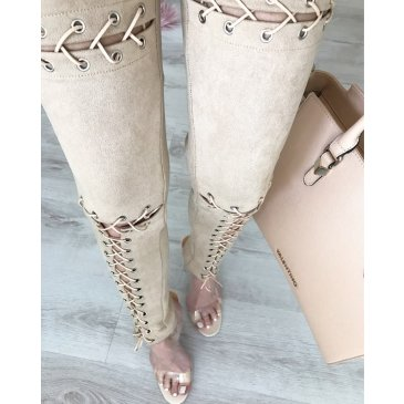 Product image of Georgina nude Lace up Trousers