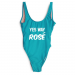 Product image of Yes rose slogan swimsuit