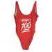Product image of Keep it 100 slogan swimsuit