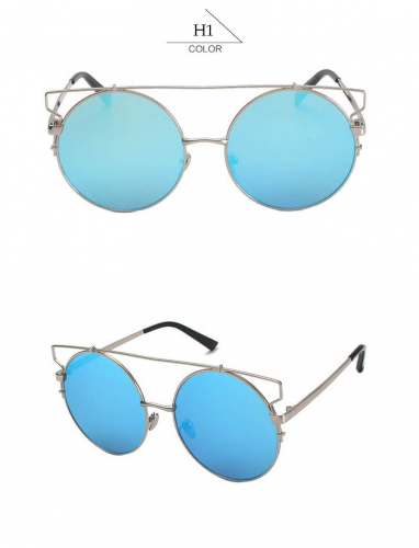 Product image of Round Women Flat Top Cat Eye Sunglasses