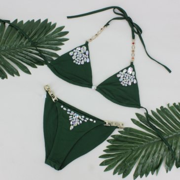 Product image of Mauritius Khaki Jewelled Bikini