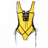 Marcel-Yellow/black-swimsuit
