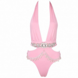 CAMILLA PINK JEWELLED SWIMSUIT