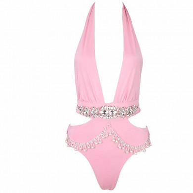 Product image of CAMILLA PINK JEWELLED SWIMSUIT