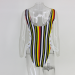 Product image of Rainbow Stripe black Swimsuit