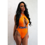 Marbella Snake Orange Swimsuit