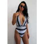 Zeana Stripe Swimsuit