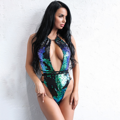 Product image of Tia Green Sequin Swimsuit