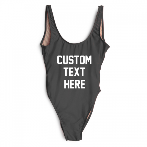 Product image of Custom slogan swimsuit