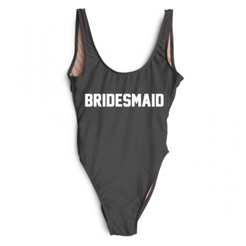 Product image of bridesmaid slogan swimsuit