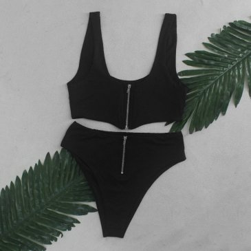 Product image of Shelby zip two way black bikini