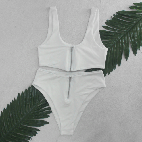 Product image of Shelby zip two way white bikini