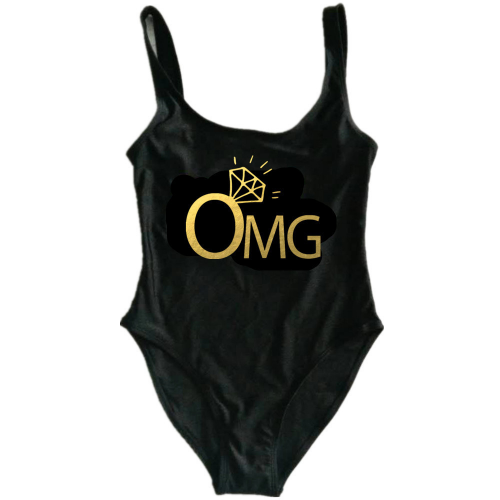 Product image of OMG slogan swimsuit