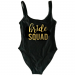 Product image of Bride Squad new font slogan swimsuit
