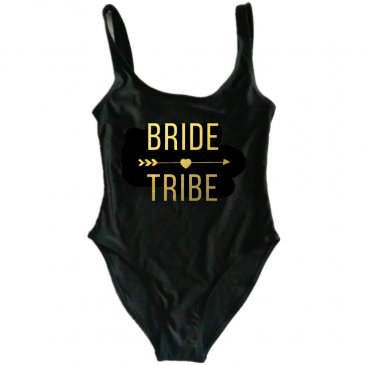 Product image of Bride Tribe new font slogan swimsuit
