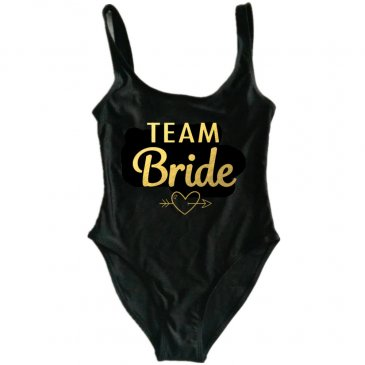 Product image of Team Bride new font slogan swimsuit