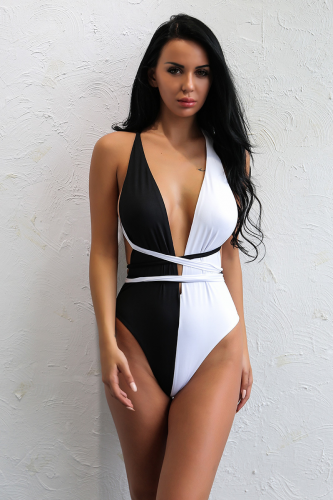 Product image of Rosie Black & White multiway swimsuit