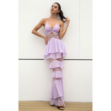 Product image of Maria purple lace dress